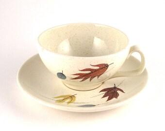 Vintage Franciscan Autumn teacup - mid century teacup - Franciscan Autumn - fall china - autumn china - Franciscan china - leaf pattern