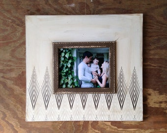 Tribeca 8x10 Metallic Distressed Picture Frame with Modern Metal