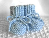 Blue Baby Booties, Boy Baby Booties, Knit Newborn Baby Booties, Boy Baby Shoes, Stay on Booties