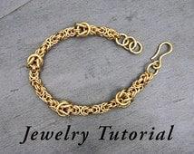 Large Knot Byzantine Bracelet Jewelry Tutorial