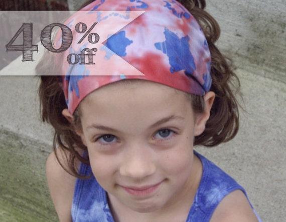 40% OFF - Red Headband, America Headband, Americana Bandana, July 4th Bandana (Item 4125) BT MEDIUM