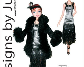 "Roaring Twenties Flapper Pattern for 15.75"" City Girl Dolls Tonner"