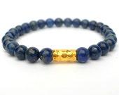 Deep Blue Lapis Bracelet with Gold Vermeil / Reiki Healing Jewelry / Third Eye Jewelry / Spiritual Bracelet / Protection