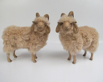 Colin's Creatures Handmade Navajo Churro Four Horned Ram Figurine