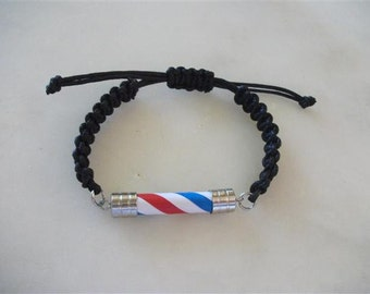 Thick Type, Barber Pole Men Bracelet