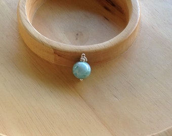 Larimar Pendant round bead 13 mm Holiday shopping gifts under 35