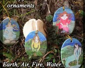 Set of Four Elements from The Well Worn Path Yule/Winter Solstice Ornaments