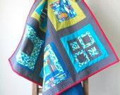 Modern Baby Quilt, Toddler Quilt, Crib Quilt, Ocean Block Quilt