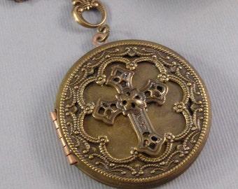 Brass Cross,Cross,Cross Locket,Locket,Brass Locket,Antique Locket,Cross,Baptisim,Boho Locket,Bohemian,Brass Cross Locket valleygirldesigns.