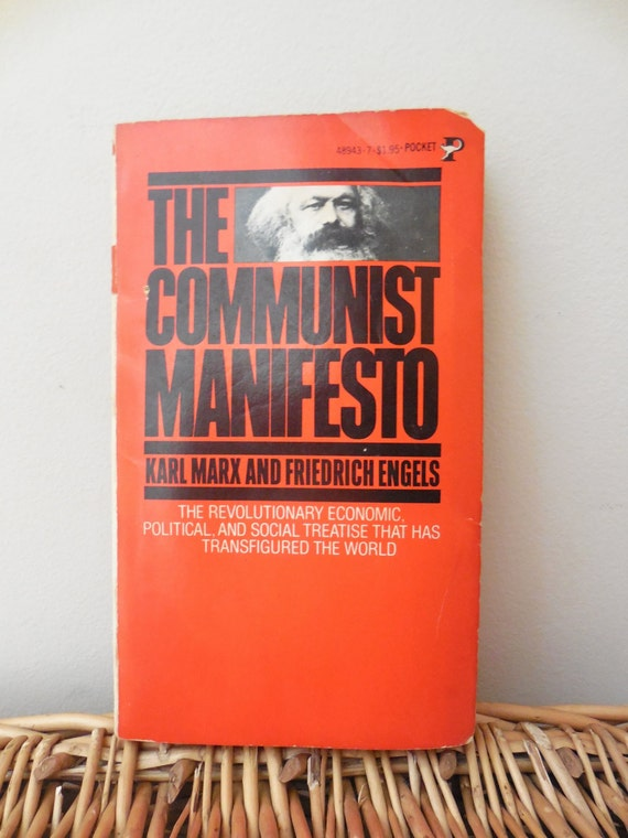 the communist manifesto vintage book copyright 1964
