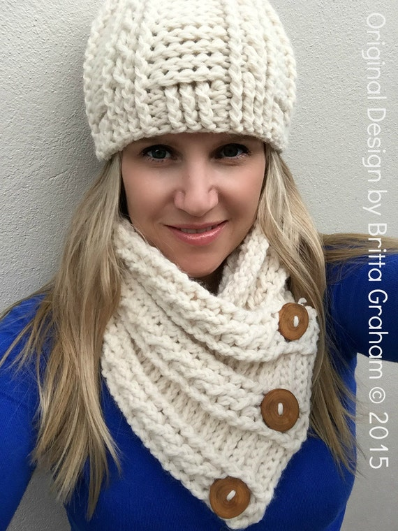 Free Zebra Print Hat Crochet Pattern : Cabled Scarf Crochet Pattern for chunky yarn Fisherman Neck