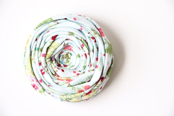 Rosette Brooch Pin Blue Rose Liberty Cotton Bridal Wedding Boutonniere Beyond Rosette Pin Broche 2.25 inches
