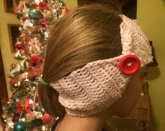 Pink Crochet Ear Warmer Head Band