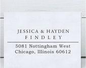 Custom Address Stamp, Return Address Stamp, Wedding address stamp, Calligraphy Address Stamp, Self inking or Eco Mount stamp - Nottingham
