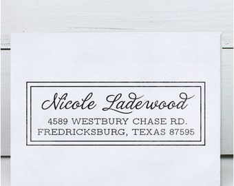 Custom Address Stamp, Return Address Stamp, Wedding address stamp, Calligraphy Address Stamp, Self inking or Eco Mount stamp- Westbury