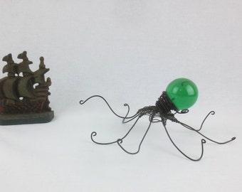 Emerald Green Baby Kraken, Made to Order Octopus