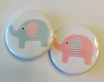 gender reveal party set of 20 gender reveal 1.25 inch pinback buttons.  You choose from 12 colors