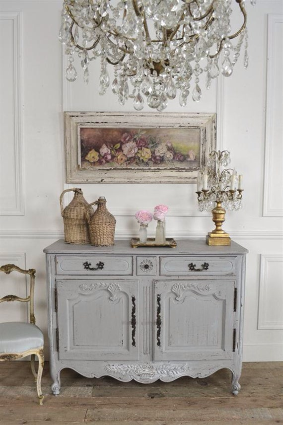 French country server b112 by fullbloomcottage on etsy for Mobilier shabby chic