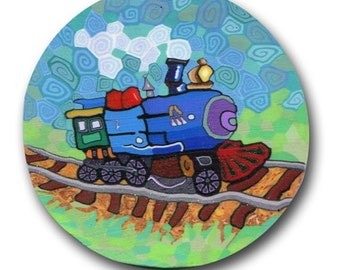 Train- Silly Milly Polymer Clay Cane- Large