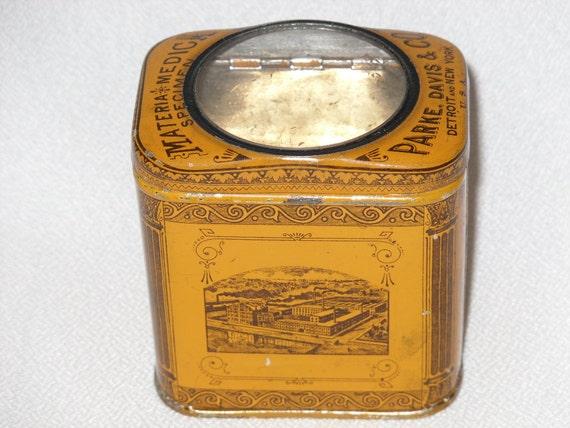Antique specimen tin with glass peep hole by thegoodgranny on etsy - Antique peephole ...