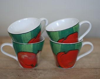 vintage misono coffee cups set of four 1992