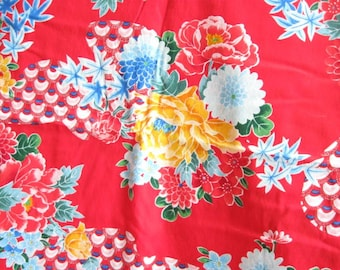 Alexander Henry Red Asian Floral Quilting Cotton Fabric