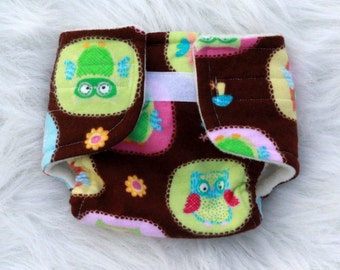 Baby Doll Diaper Brown Owl - Size Large