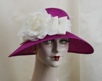 Ladies Straw Hat, 1920s Straw Hat, Garden Hat