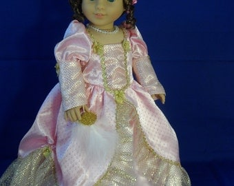Princess, Fairy tale dress for your american girl and 18 inch doll