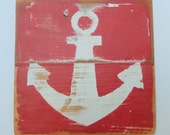 Anchor on Reclaimed Picket Fencing Wood