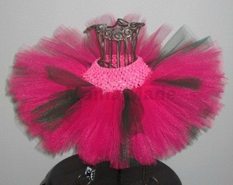 Girl's Tutu, Pink and Green Tutu, Fuchsia and Hunter Green Tutu, Birthday Tutu, Flower Girl Tutu, Photo Prop Tutu, Baby Tutu, Toddler Tutu