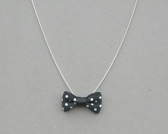 Polka Dot Bow Necklace 2 Colors