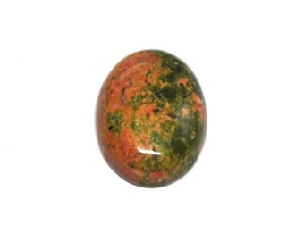 Natural Unakite Oval Cabochon AAA - 13.8 x 9.9 x 3.8 mm - 4.5 ct - 141217-02