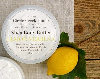 Lemon Verbena Shea Body Butter - Handmade by Circle Creek Home