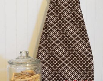 Designer Ironing Board Cover - Metro Living Tiles Brown