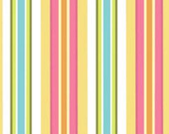 Laminated Cotton Oilcloth splat mat Riley Blake bohemian festival stripes choose your size