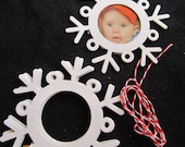 White Snowflake Frame-Chipboard Snowflake Frame-Christmas Ornament-Unfinished-Decoration-Raw Chipboard-Rustic Wedding-Housewarming