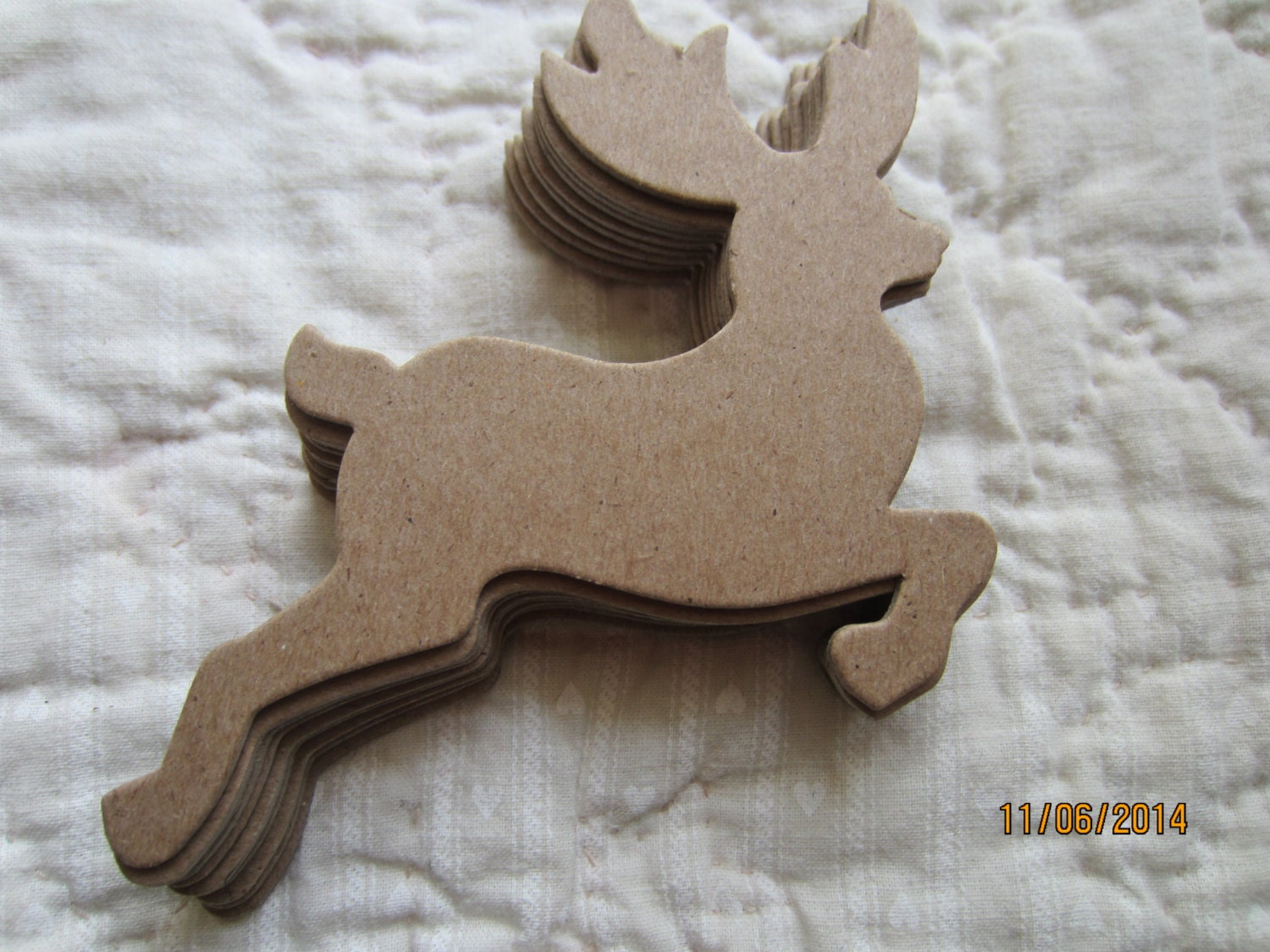 Chipboard Shapes Ideas ~ Reindeer diy kits blank chipboard shapes for