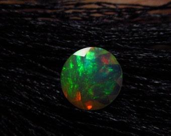 8x8 mm - Round Cut - AAAAAAAAA - Ethiopian Welo Opal Super Sparkle Awesome Amazing Full Colour Fire
