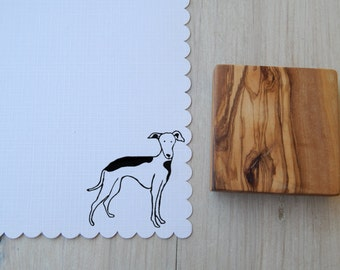 Greyhound  Olive Wood Charity Stamp