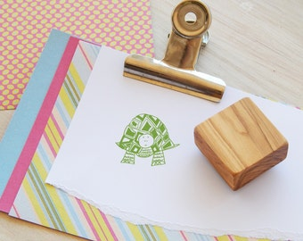Garden Tortoise Olive Wood Stamp