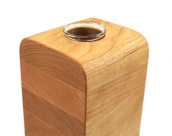 Medium Slice Vase  in Cherry