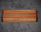Beautiful Walnut and Mahogany Jewelry Box.