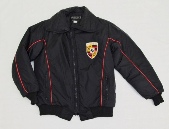 porsche racing jacket crest emblem moto ski nylon beverly. Black Bedroom Furniture Sets. Home Design Ideas