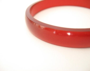 Red Jewelry , Red Resin Bangle , Red Bracelet ,  contemporary jewellery , resin jewellery , small jewelry , handmade jewelry , australia
