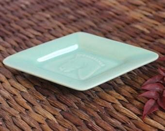 Tiny Ceramic Horse Dish