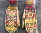Nordic wool baby alpaca knit mittens