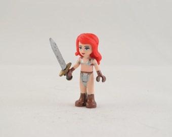Custom LEGO Friends Red Sonja Minifigure
