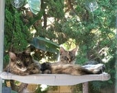 Soft Greys - Curious Cats Window Perch