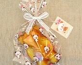 20 Heart Bear Cellophane Bags (4.35 x 6.7in)